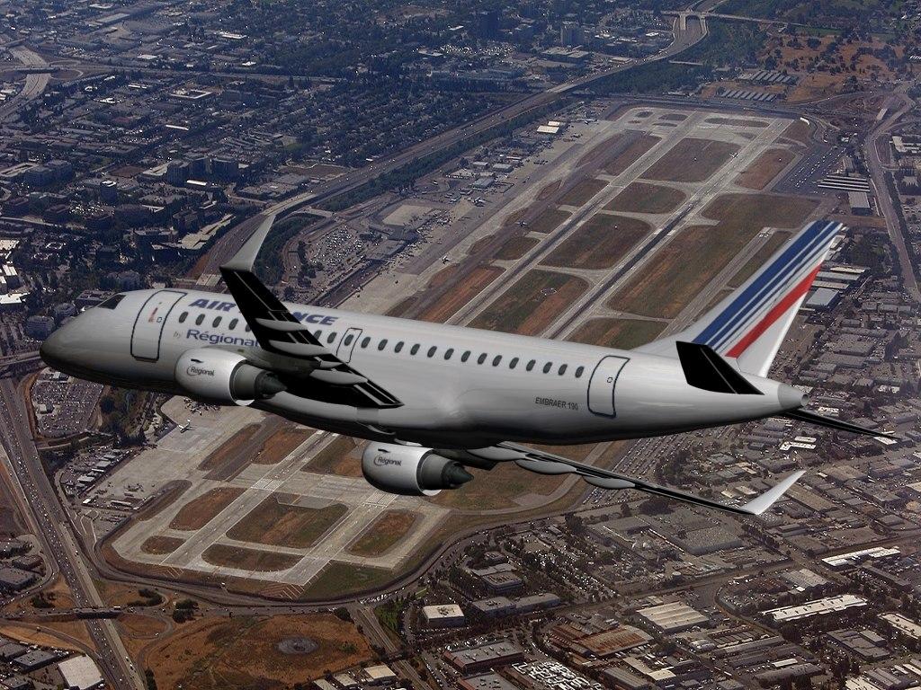 plane embraer 190 air france 3d model