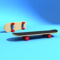 3dsmax skateboard skate board
