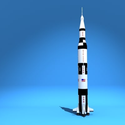 apollo 13 rocket 3d model