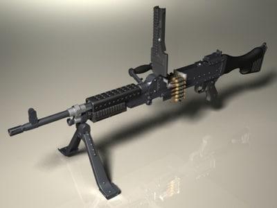 m240b m240g machine gun 3d max