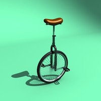 unicycle cycle 3d model