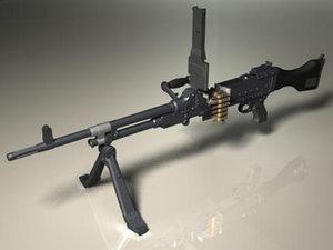 fn mag58 machine gun 3d model
