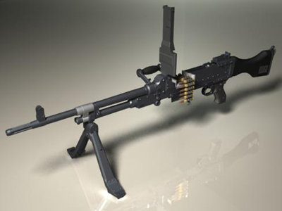 fn mag58 machine gun 3d model