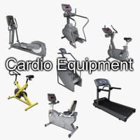 3d cardio gym equipment cycle model