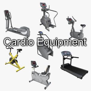 3d cardio gym equipment cycle model
