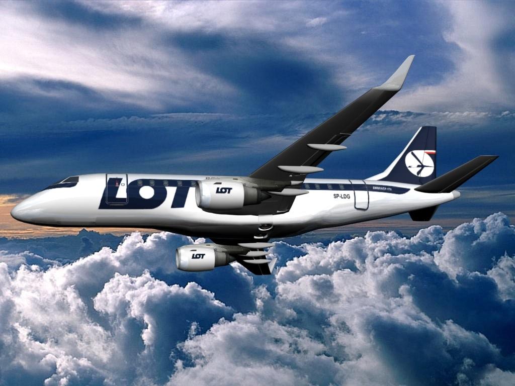 plane embraer 170 lot 3d model