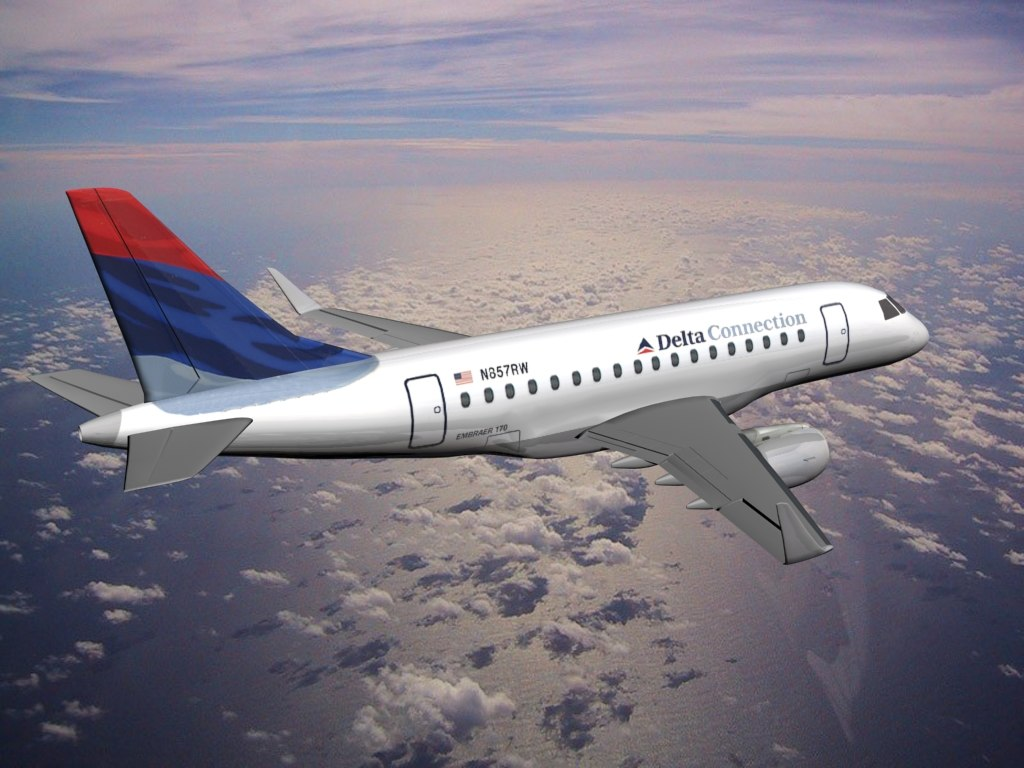 plane aircraft embraer 170 3d model