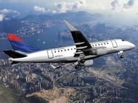 plane aircraft embraer 170 3d model