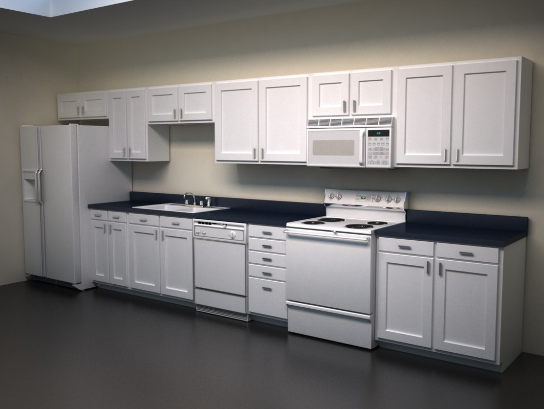 faucets sinks refrigerators 3d model