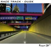 race track city 3d model