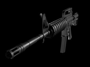 3ds max m-4 shooter