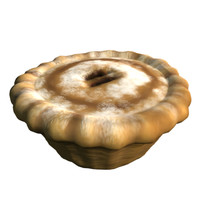 seasons mince pie 3d model