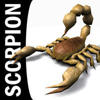 scorpion scorp scorpio 3d model