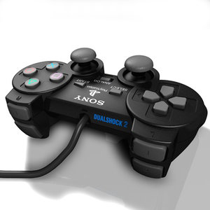 c4d playstation 2 joypad sony