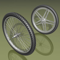 Two types of bicycle wheels