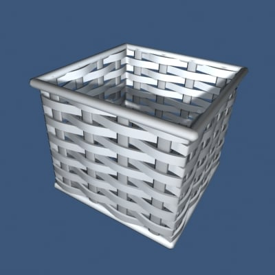 3ds max bamboo basket