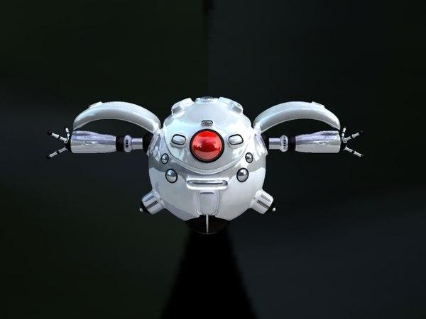 robot character hdri 3d model
