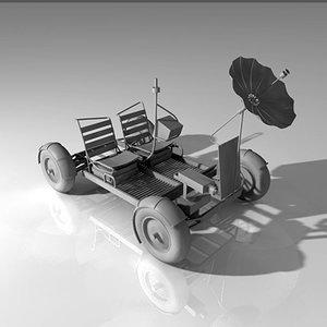 3d model of lunar roving vehicle