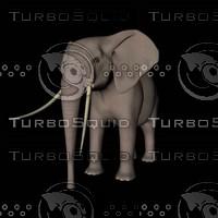 cinema4d african bull elephant