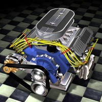 Generic American V8 pushrod OHV engine
