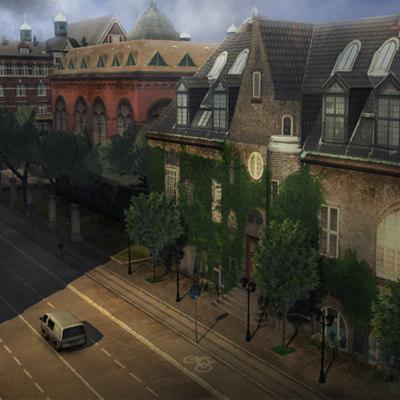 3d euro level street model