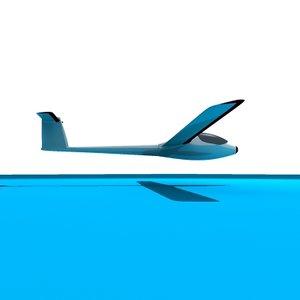 dxf sailplane plane