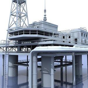 3d model oil platform