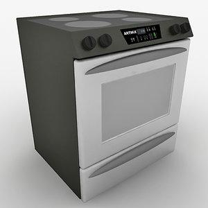 3ds max kitchen range