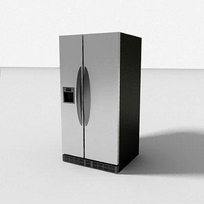 3d model refridgerator fridge