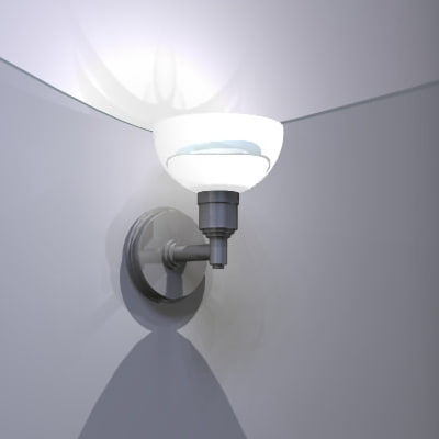 wall sconce obj