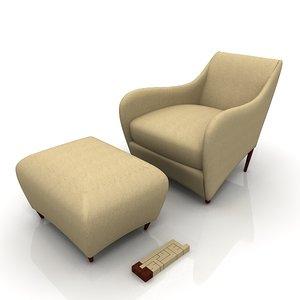 3d balzac 225 chair