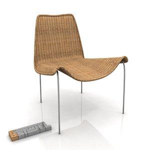 olivia chair 3d max