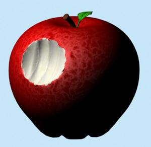 apple bite 3d model