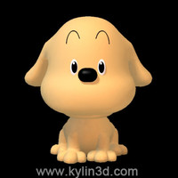 3d model cute dog doggy