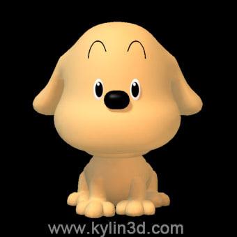 3d model cute dog doggy