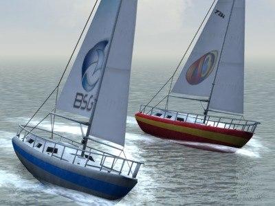 boat sailboat 3d model