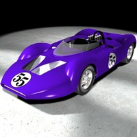 "Short nose king cobra racecar from 1960""s CanAm racing series"