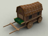 3d fantasy wagon model