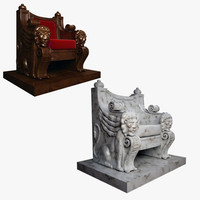 marble throne 3d model