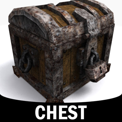 treasure chest 3d 3ds