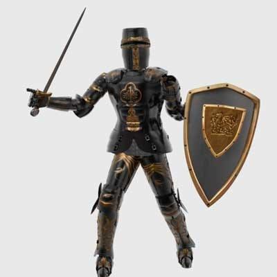black knight armor 3d model