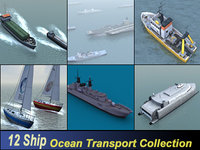 ship ocean transport 3d max