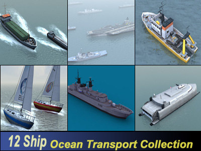 ship ocean transport 3d max