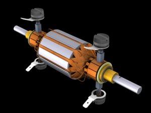 3d dc servo-motor model