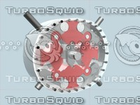 quasiturbine engine 3d model