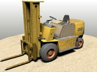 warehouse forklift 3d model