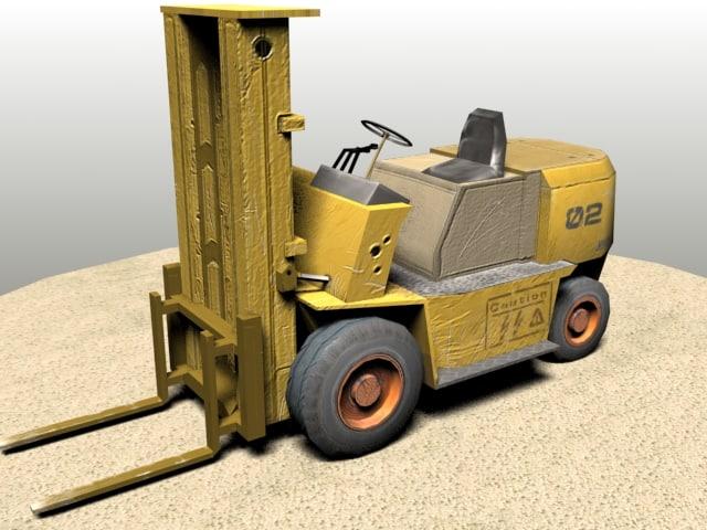 warehouse forklift 3d model