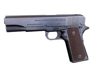 3d m1911 pistol model
