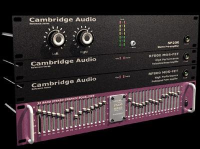 3d rack amplifier model