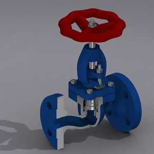 3d model valve check controlled modeled